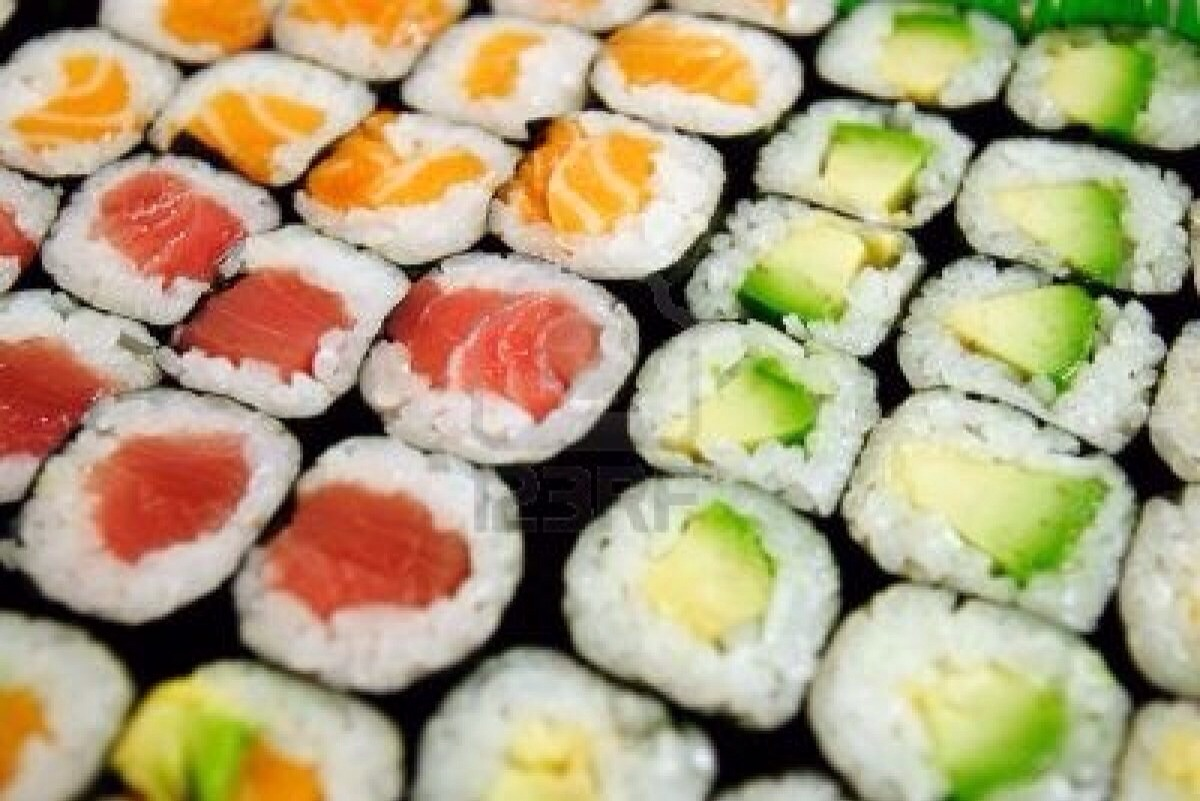 It may look and seem better for you, but if your trying to watch your weight, sushi is a no go