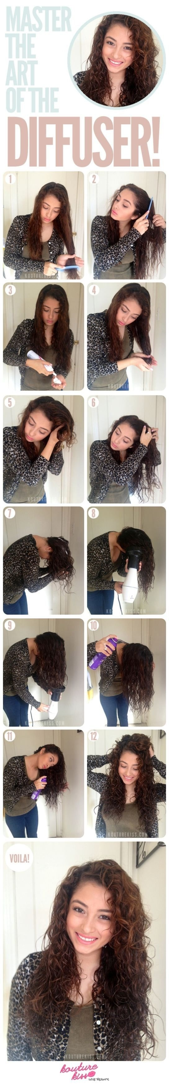 Add a little gel after the mousse and get a longer lasting hold, if you don't have a diffuser, just keep the blow dryer far away  on a low warm setting and just keep scrunching! 😊