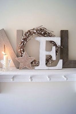 You need a NEL in the letters.  And a round wreath for the O it spells NoEL.  It is so pretty