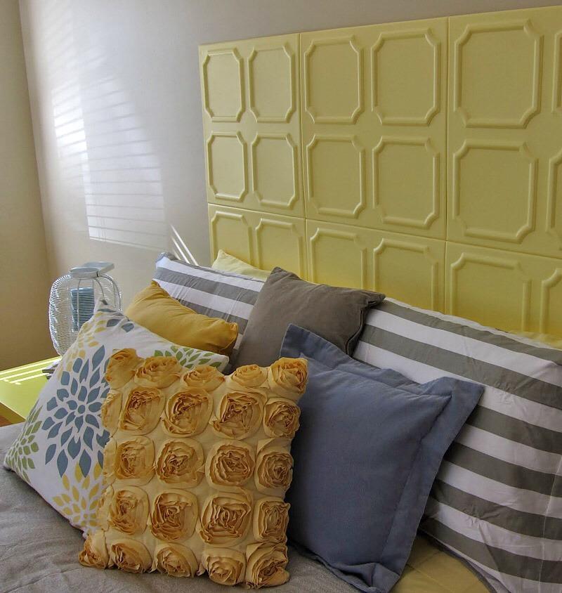 --> Styrofoam Ceiling Tiles Headboard