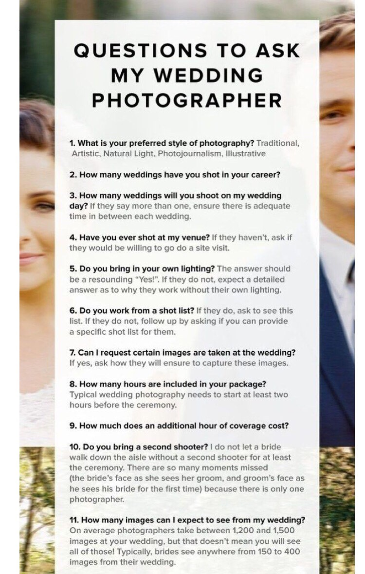 Questions To Ask Your Wedding Photographer.Questions To Ask Your Wedding Photographer By Jo Musely
