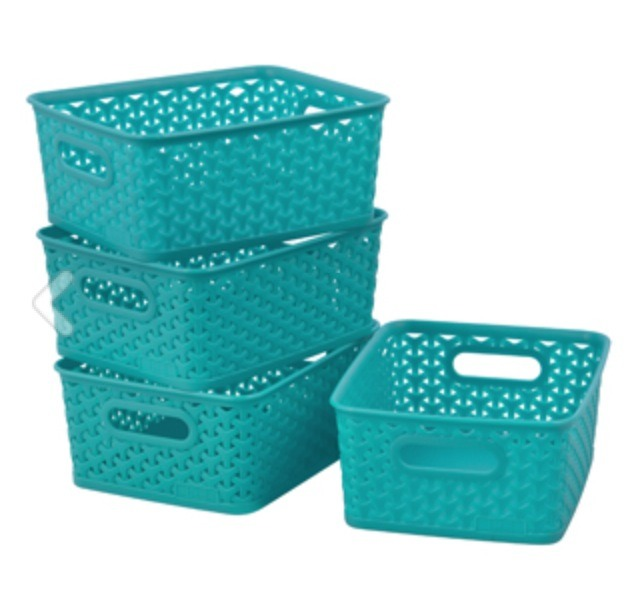 Room Essentials Y-Weave Small Storage Basket, $23.99 for four, target.com
