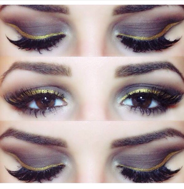 Sexy brown and gold smokey eye 💋