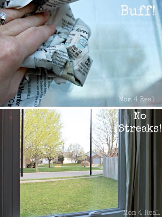 7.No-Streak Window Cleaning Don't you hate it when you finally get around to washing your windows and they end up looking worse once you're finished?! It's not easy getting streak-free windows. Turns out there are a few secret tricks to getting the job done!