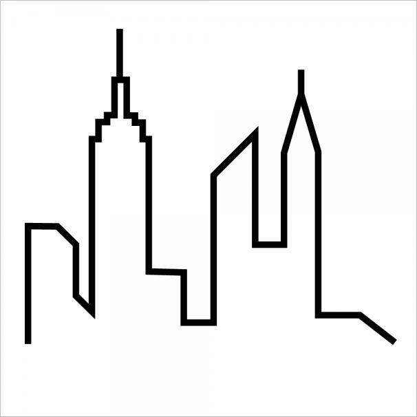 For your convenience here goes a template for the city skyline. Happy crafting!