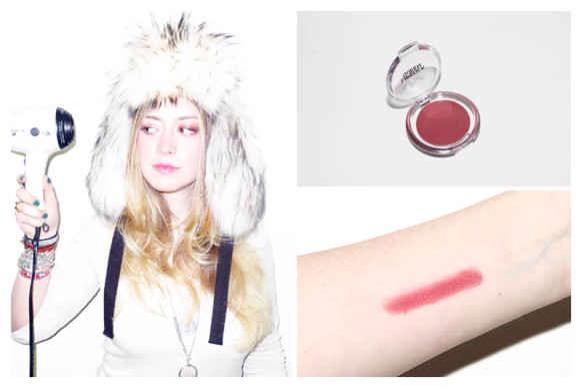 Creamy lipstick or lipgloss makes subtle blush.