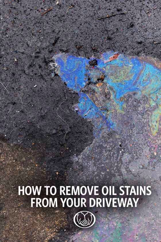 40.If the oil stains on your driveway bug you, get rid of 'em.   Hereare several different ways of going about it.