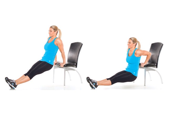 2 sets of 10 tricep dips