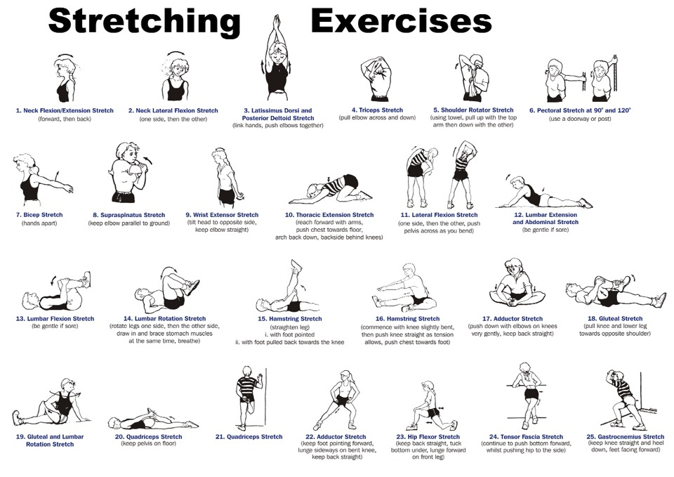 It may hurt, but stretch! Your muscles are most likely tight, so what better to loosen them up than stretching.