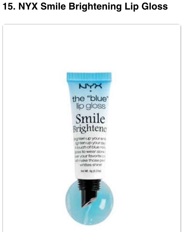 Clear gloss that turns into a pinkish color with blue undertones to make your teeth appear whiter! - $4.50