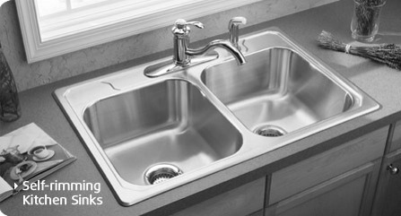 To disinfect your sink clean with soap and water first, then spray a mist of vinegar followed by a mist of hydrogen peroxide, and let air-dry. (Don't mix the vinegar and hydrogen peroxide together—spray one after the other.)