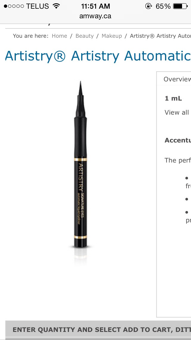 Artistry Eyeliner is easy to apply and highly pigmented in colour. Long lasting and with a matte finish. It's available in two colours, black and brown!