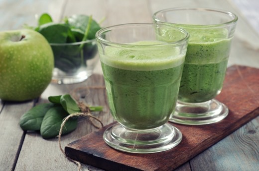 Green Smoothie: •60g spinach leaves •1 ripe pear, unpeeled, cored and chopped •15 green or red grapes •185g fat-free natural Greek yoghurt •2tbsp chopped avocado •1-2tbsp fresh lime juice  Combine all ingredients in a blender and blitz until you reach your desired consistency.