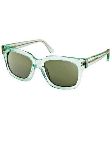 Mint Sunglasses Translucent pastel sunnies make your hipness crystal clear!  Cynthia Rowley Eyewear