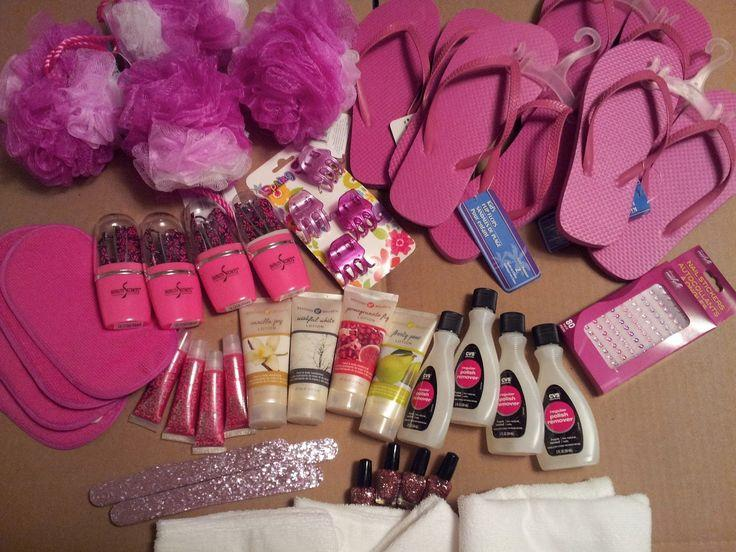 spa day supplies for your daughters birthday with friends
