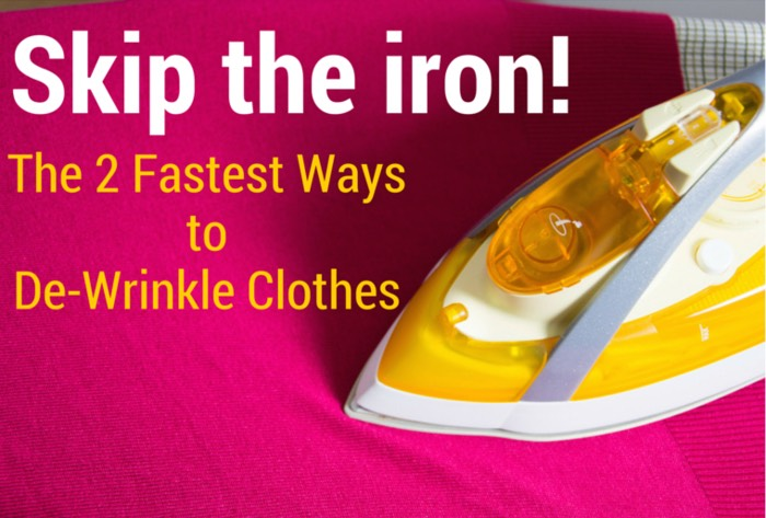 Nothing's more annoying than having an outfit in mind, then finding it clean-but-wrinkled in your dryer right before you need to be somewhere. Turns out, you don't need an iron or fancy steamer to get wrinkle-free clothes.  Here are two (free!) ways to quickly create perfectly pressed attire.