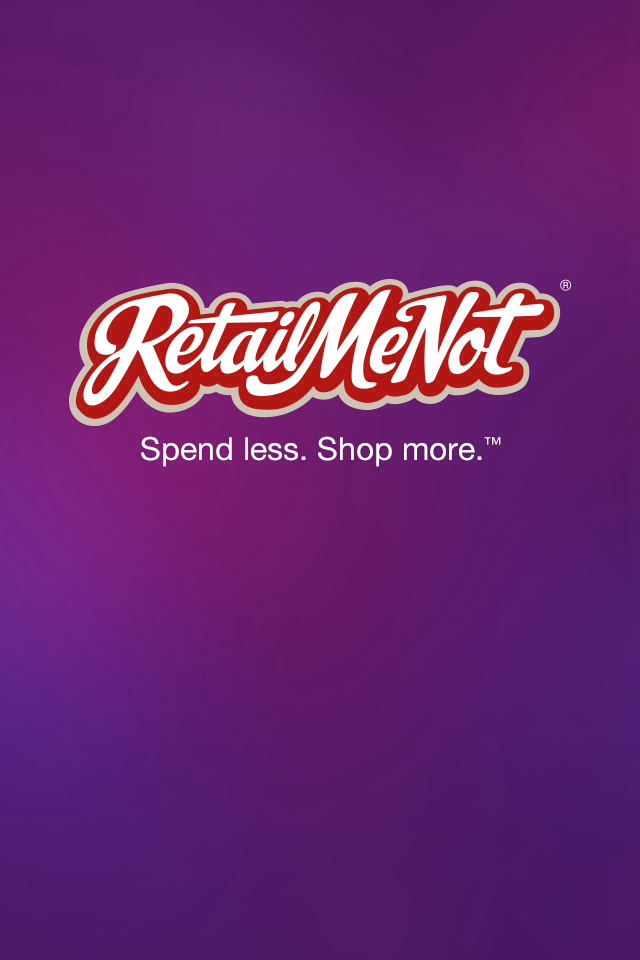 Download the free app Retail me not