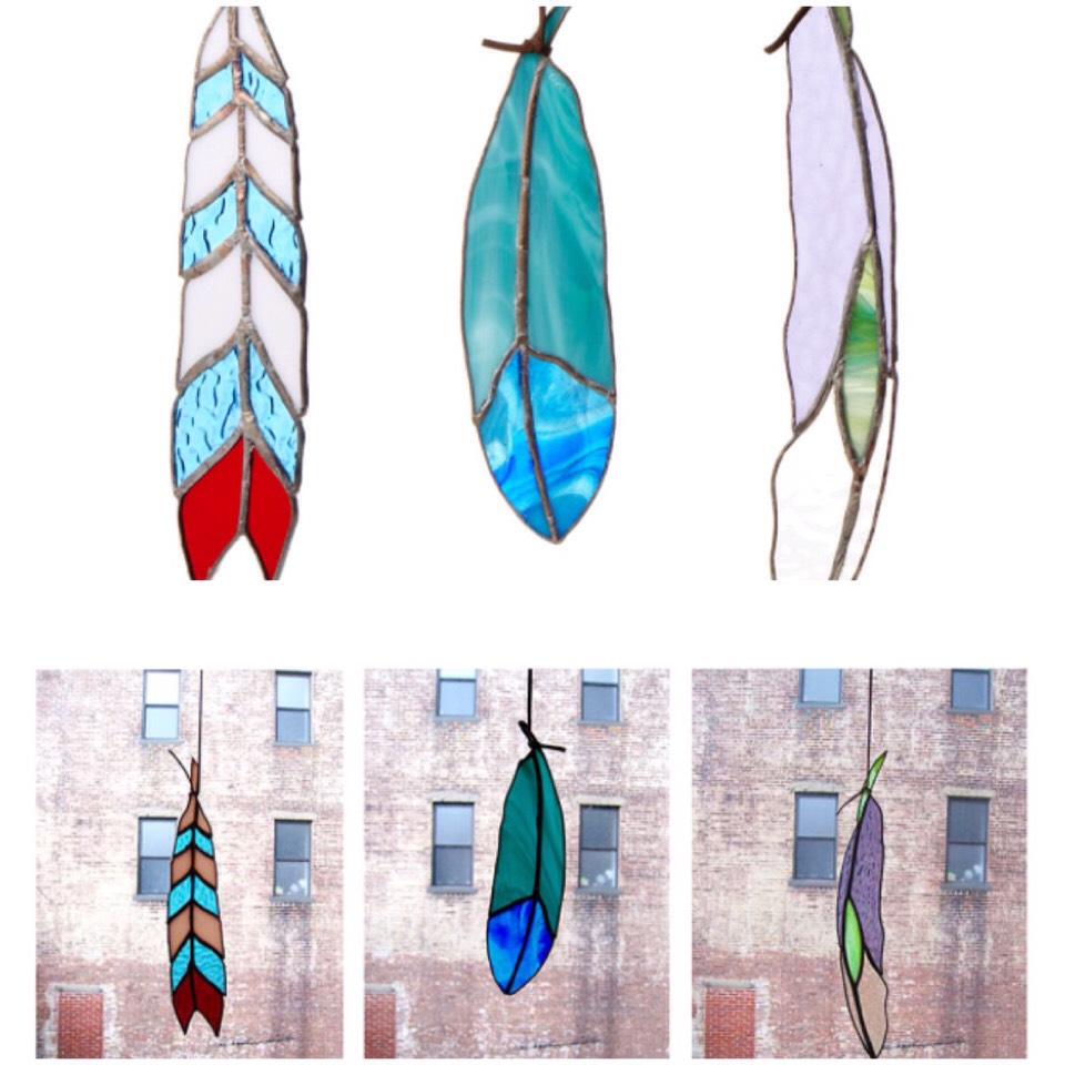 Beautiful...stain glass feathers.