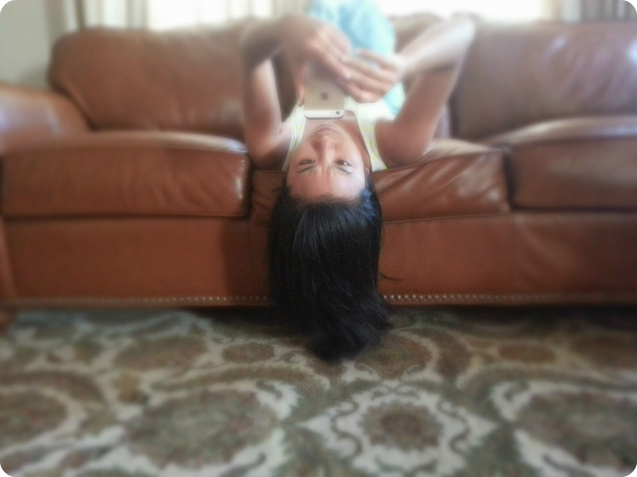 Turn your head upside down