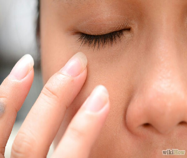 Sweep inward around the ocular bone and in.This is going to create circulation and movement in that area.Do this for three to five minutes in the morning. This technique is great if you have puffiness caused by allergies, lack of sleep, or just that general feeling of puffiness under the eyes.You will visibly see a difference in this area afterward. The skin will look more taut and it leaves the skin very dewy and moisturized.