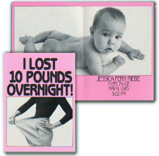 Who needs a diet? The only guaranteed overnight weight-loss trick: having a baby.