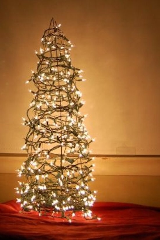 Tomato Cage Tree  Find new uses for your garden accessories with this festive tree alternative.
