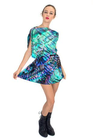 22. And a dress that looks like the inside of an abalone shell.