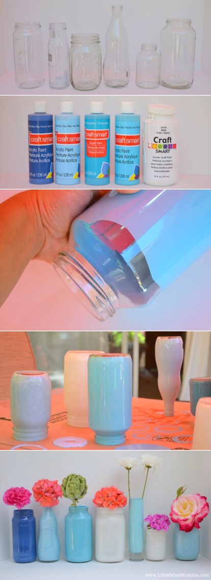 Painted vases.. Tap pic for full view