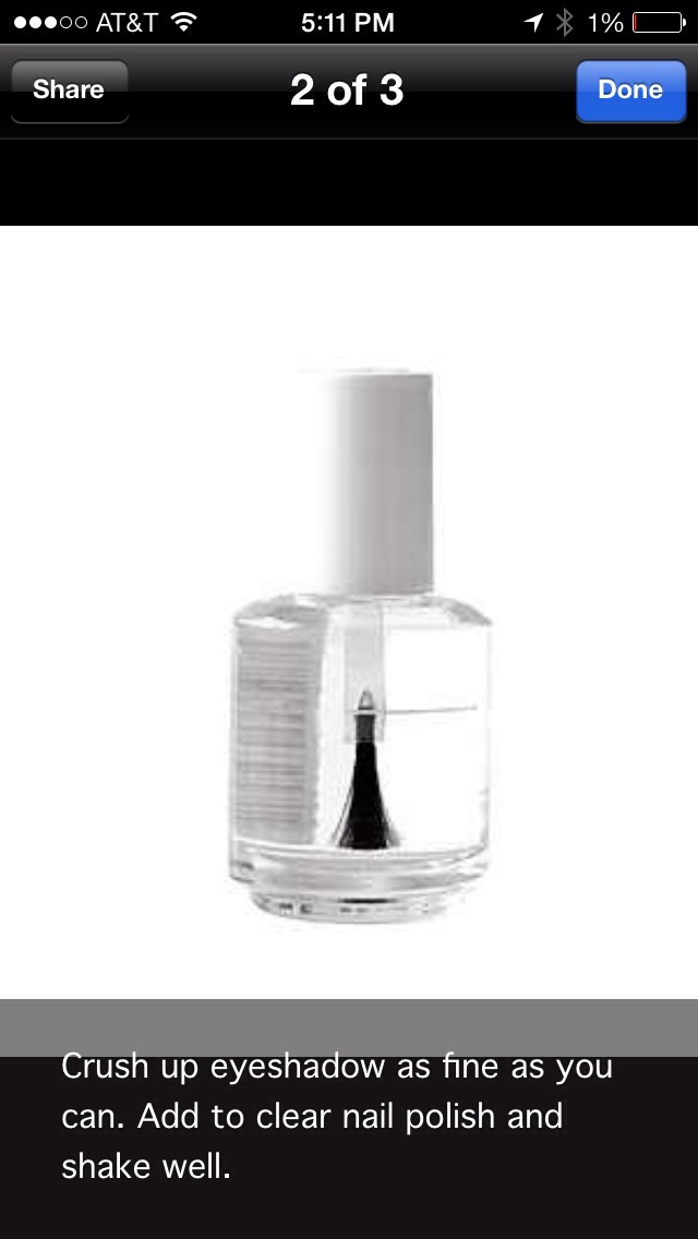 Once it's in shake the bottle and you'll have your very own nail polish