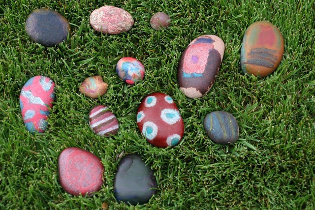 3. Hot Crayon Rocks. Paint with crayons on hot stones.