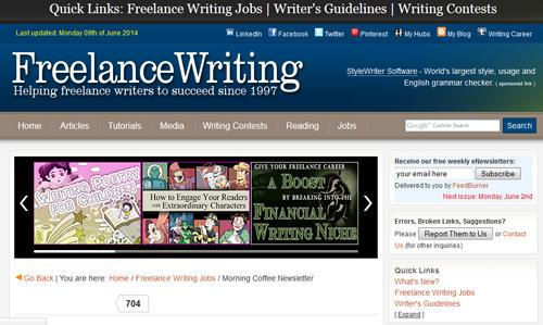 http://www.freelancewriting.com If you are a blogger or a writer, this site offers daily writing and blogging job postings. They post mix of work from home, freelance and on-site job openings