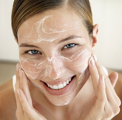 Once a week use a scrub to exfoliate. Use a face brush for best results.