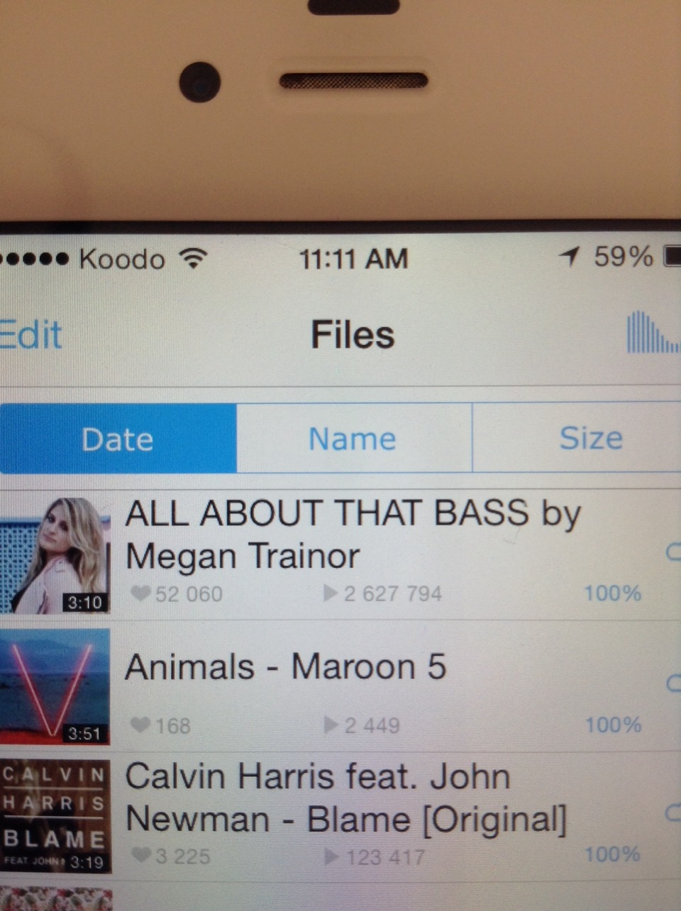 Now that song is on your file. If you want a playlist then go to the tab playlists and set that up.