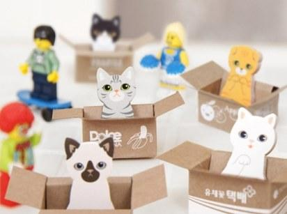 16. These box kitten sticky notes ($3).