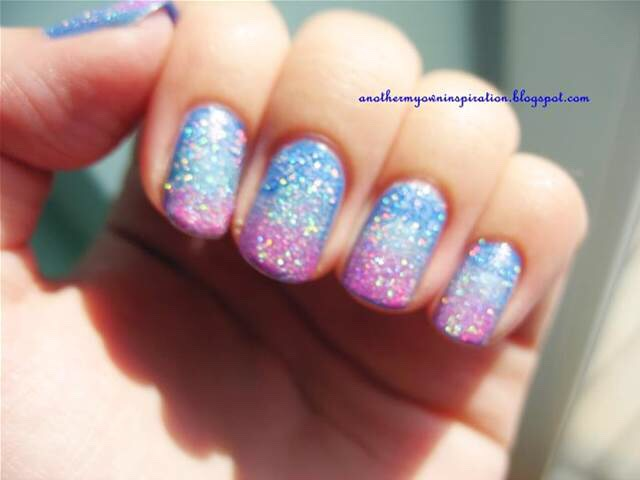 Why deal with removal of glitter nail polish...