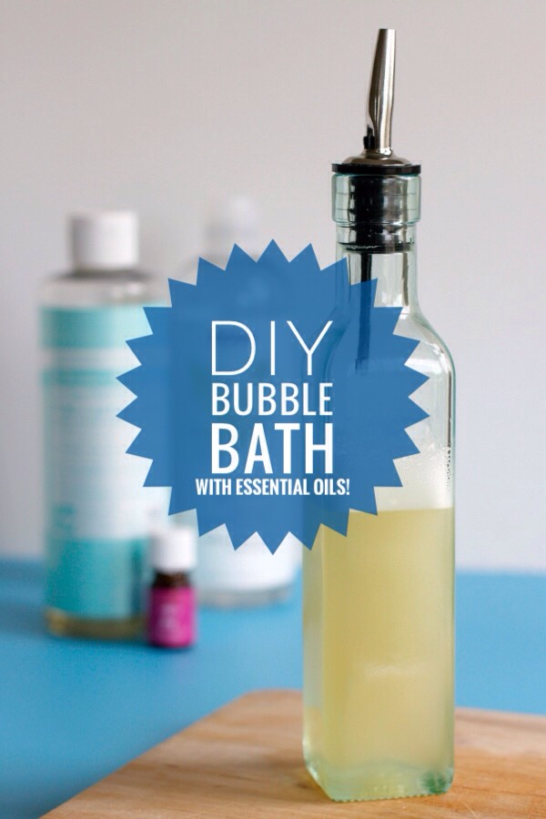 When I was little, my twin sister + I put dish soap in the tub when we wanted a bubble bath. Needless to say, it was not a good idea. Our mom wasn't too happy about us using 3/4 of her dish soap; bubbles were everywhere. Here's a much better idea - better for your skin!