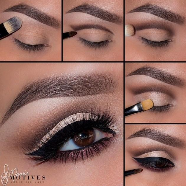 3. Add a light color under the dark crease line. You can even use concealer to clean the bottom of the line up!