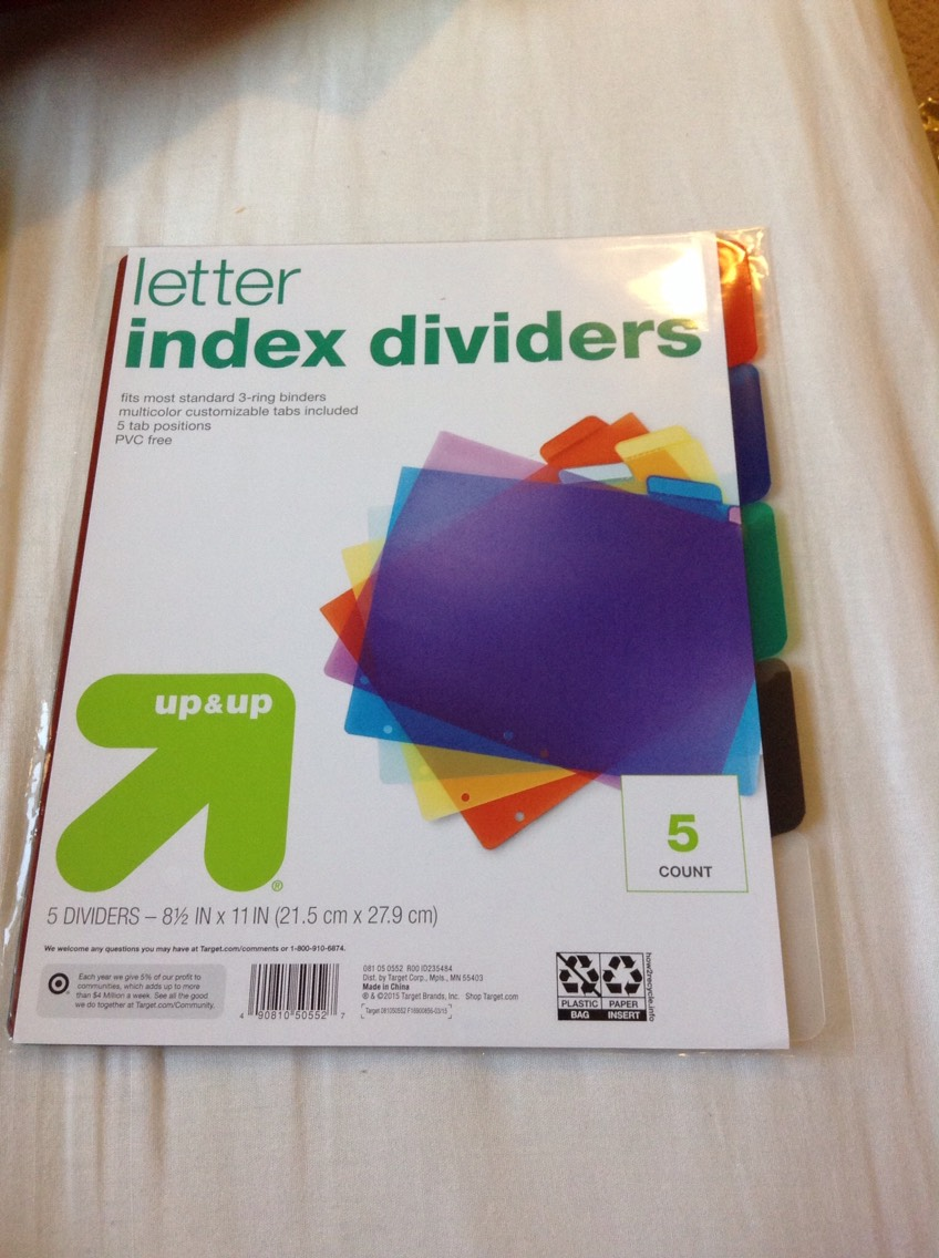 Some dividers