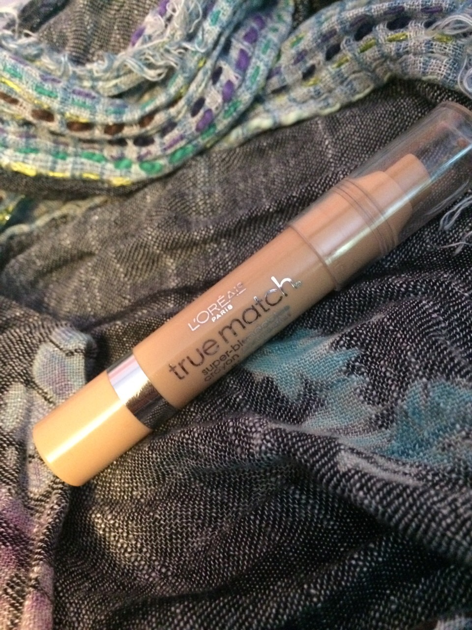 Use True Match (extremely blend able) crayon concealer for foundation after the Aveeno