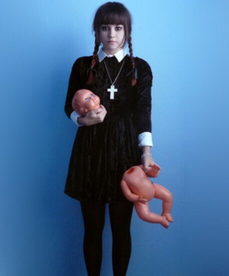 A classic costume is Wednesday Addams, plus the dress is darling to wear all-year round 💕💕