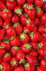 Strawberries - lowers bad cholesterol, gives you vitamin C and antioxidants, good source of fiber