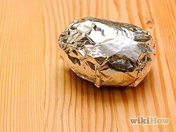 4) wrap each potato in aluminum foil