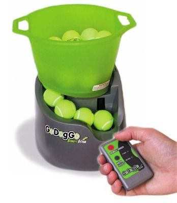 13.GoDogGo Automatic Ball Launcher Load up several balls into the machine, sit back and launch them with a remote control! $139.99See it in action!