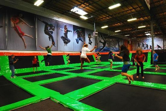 Go to the trampoline place