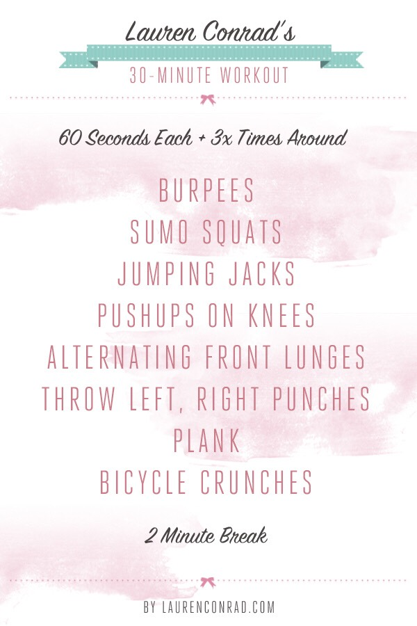 30-Minute workout *Extra workout
