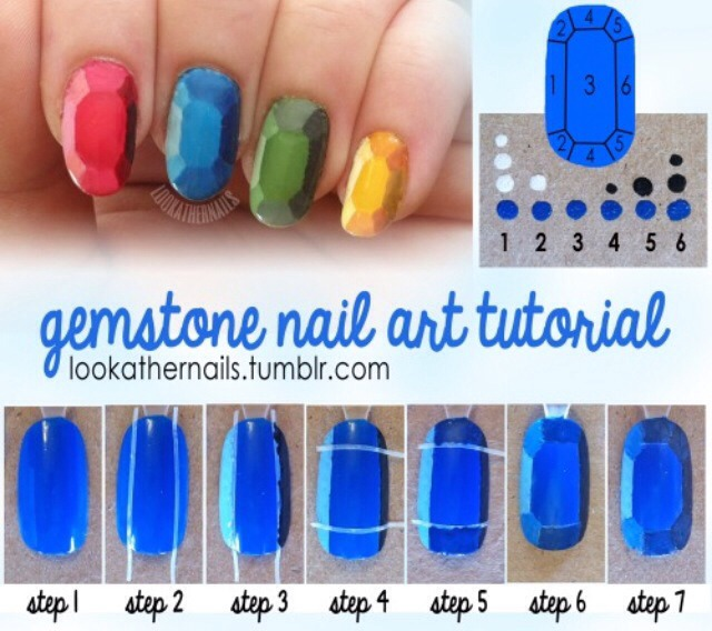 Gemstone nails A little more hard but these are amazing nails !