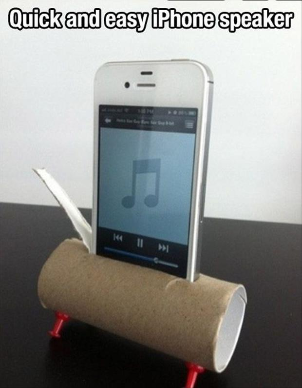 Use a toilet paper roll and two tic tacks for louder sound.