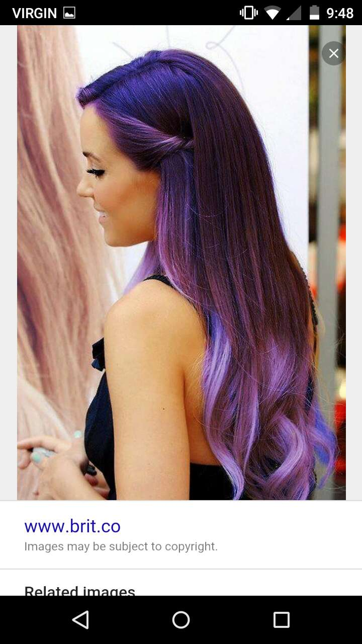 #Ariana with her #ombre #purplehair, lookin good!