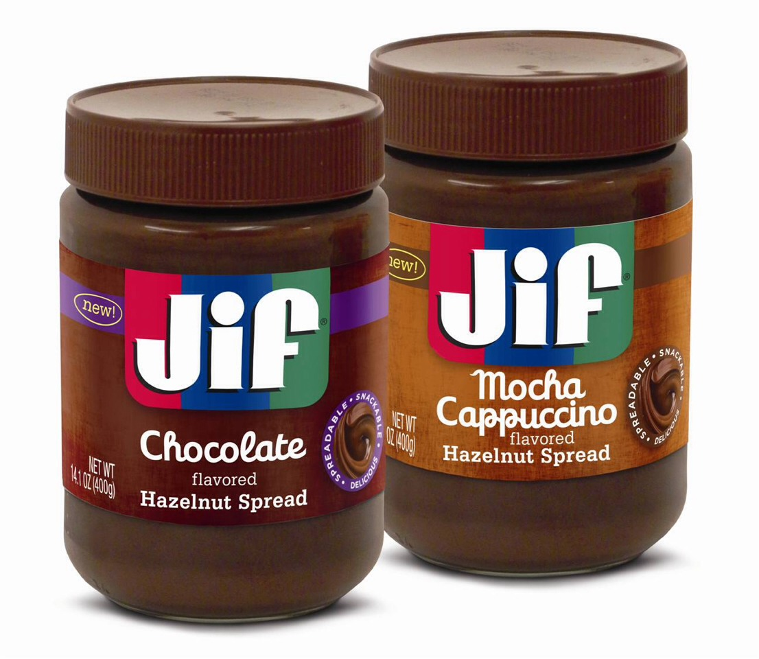 Jif also makes these 2 great spreads,one is similar to Nutella and the other is mocha cappuccino, yum! Just swap the peanut butter out for one of these and change the frosting to suit your taste buds!