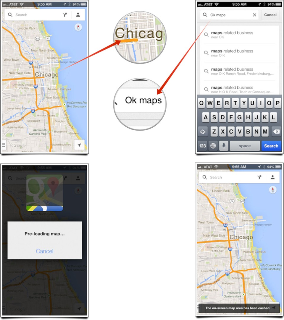 """If you want to access directions on the go, simply cache the map before starting your journey. To do so, search for the directions you need. Then in the search bar, type """"Okay Maps"""" and search. This will save the map on the screen and help you access directions offline."""